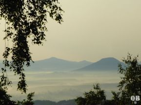 Studenec | Kaltenberg links und Růžová hora | Rosenberg rechts